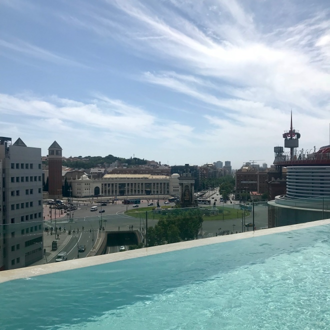B Hotel Barcelona - Roof top view