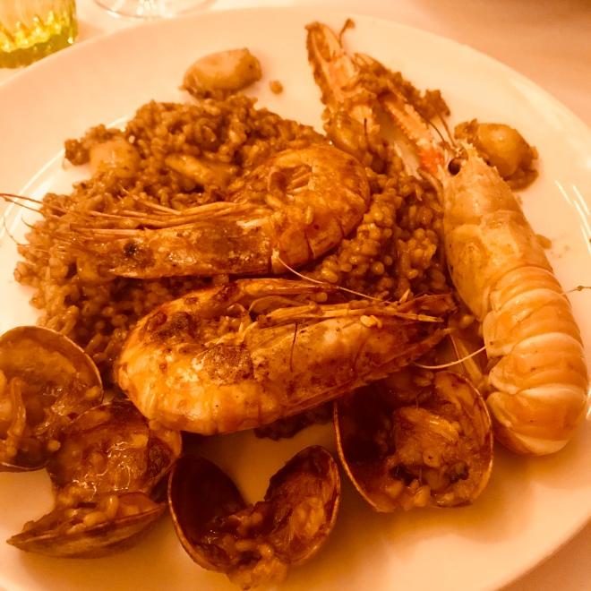 Paella at botafumeiro barcelona