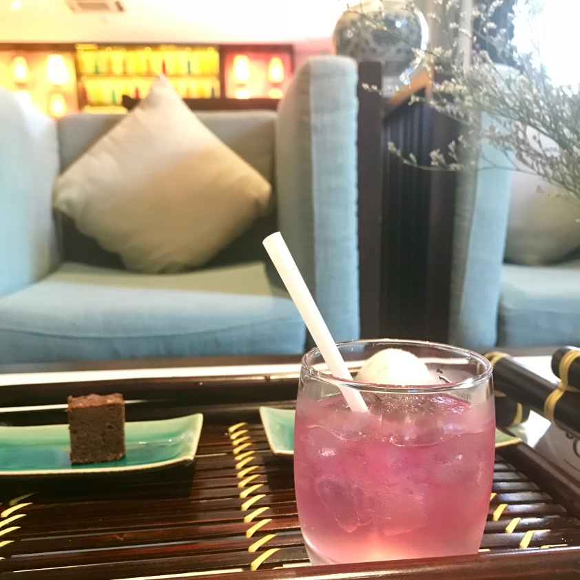 Welcome drink at little beach boutique hotel Hoi An